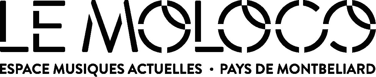 logo de la salle de concert Le Moloco - logo textuel