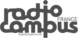 logo textuel de Radio Campus France : logo typographique noir