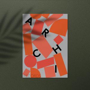 Affiche Archi records créée par Nomirar